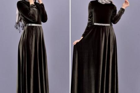 جدیدترین و شیک ترین مدل لباس مجلسی بلند مخمل