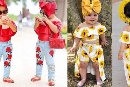 عکس لباس تابستانه دخترانه بچه گانه با طراحی شیک و جذاب مد سال ۹۹