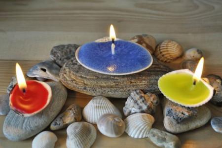 آموزش درست کردن شمع با صدف(تصویری)