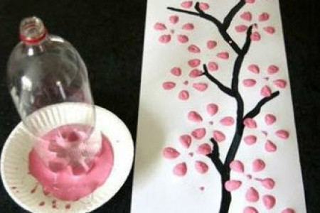 کاردستی جالب با بطری نوشابه و رنگ