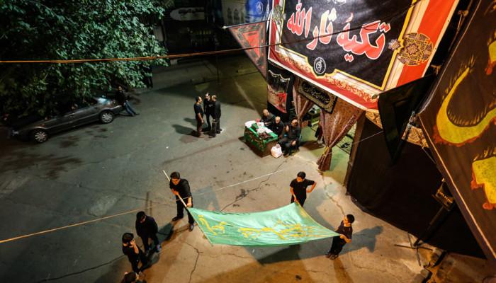تصاویر عزاداری در تکیه ثار الله