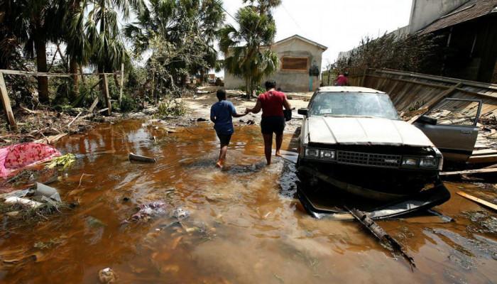 تصاویر پس از طوفان متیو