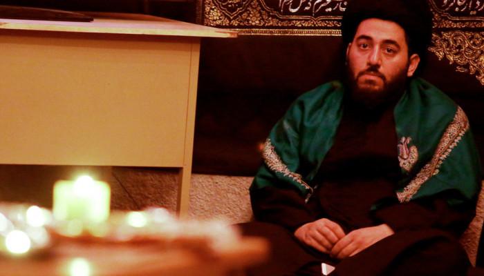 تصاویر مراسم شام غریبان حسینی با حضور آیت الله العظمی وحید خراسانی