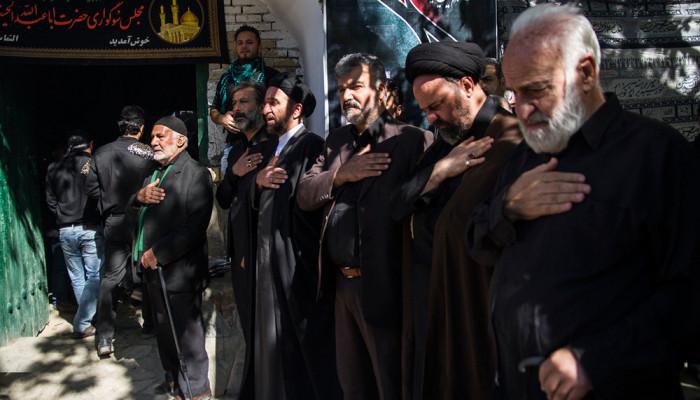 تصاویر مراسم عزاداری روز عاشورا در روستای انجدان