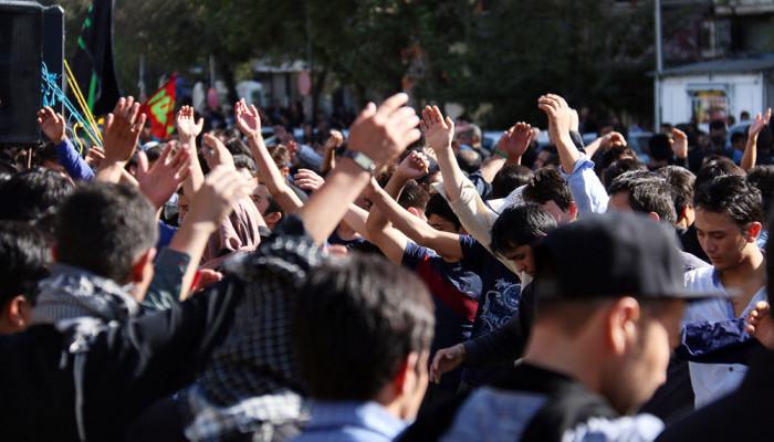 تصاویر عزاداری مهاجران افغان مقیم تهران در روز عاشورا