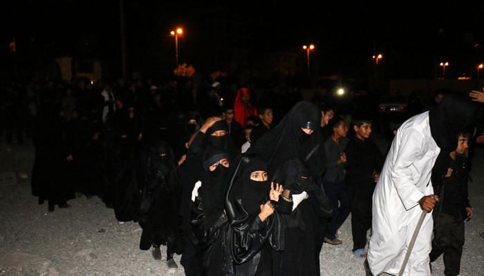 تصاویر عزاداری شام غریبان امام حسین (ع) در هشت بندی هرمزگان