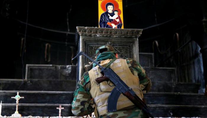 تصاویر مبارزان مسیحی در جبهه موصل
