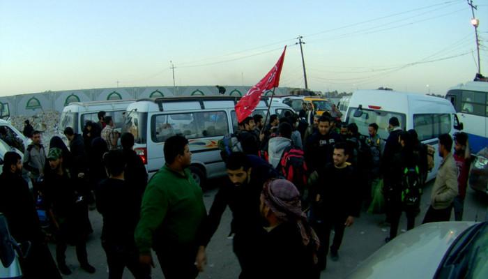 تصاویر بازگشت زائران اربعین حسینی از کربلا  -  راهپیمایی اربعین ۵۶