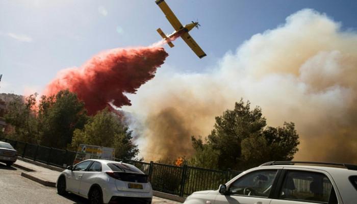 تصاویر آتش سوزی در سرزمین های اشغالی