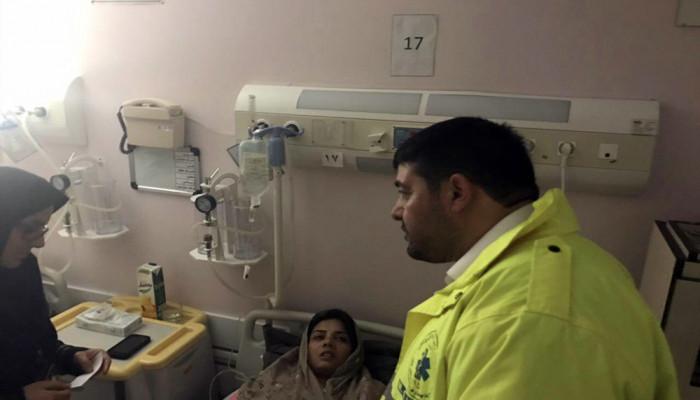 تصاویر عیادت سرپرست اورژانس کشور از مصدومان حادثه ریلی سمنان
