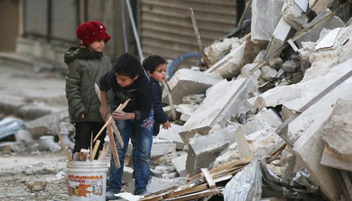 تصاویر گرسنگی و ویرانی در حلب