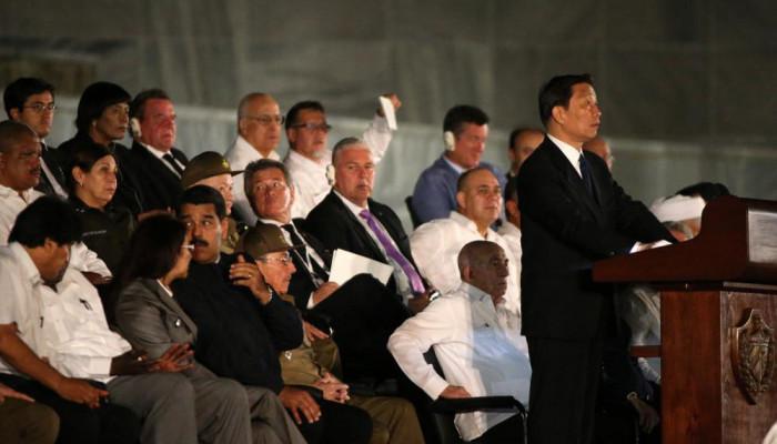 تصاویر رهبران جهان در مراسم یادبود کاسترو