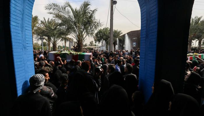 تصاویر مراسم تشییع شهدای حله در اهواز