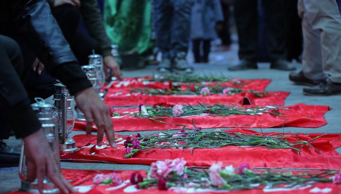 تصاویر سالروز تدفین پنج شهید گمنام در میدان ابوذر