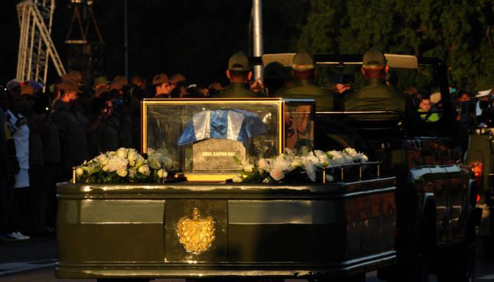 تصاویر مراسم تشییع فیدل کاسترو