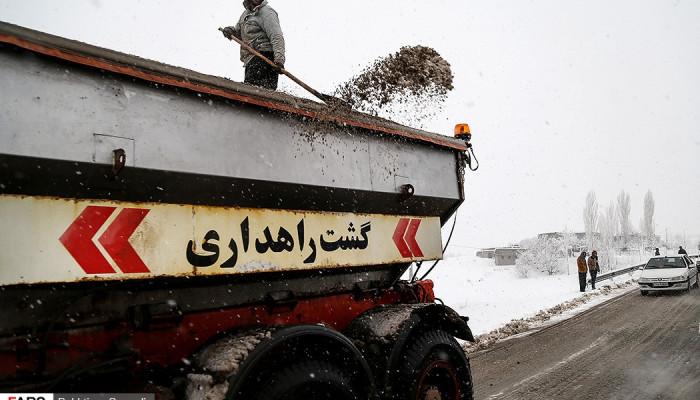 تصاویر بارش برف در کردستان