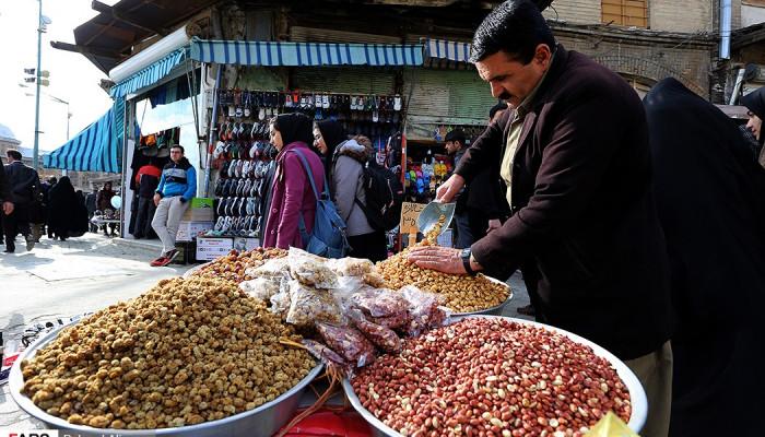 تصاویر بازار شب عید در همدان