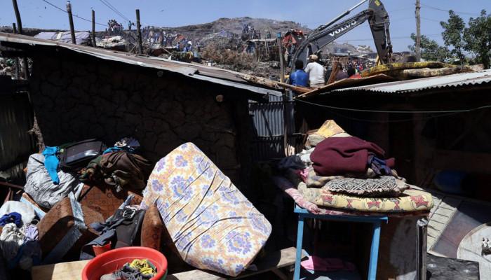 تصاویر سقوط کوه زباله در اتیوپی