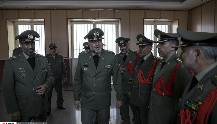 تصاویر دیدار فرمانده نیروی زمینی ارتش  با وابستگان نظامی خارجی
