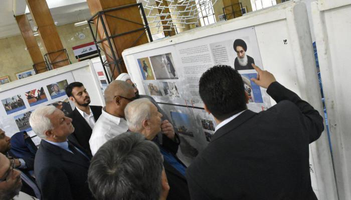 تصاویر افتتاح نمایشگاه تصویری با حضور سفیر عراق در دانشگاه تهران