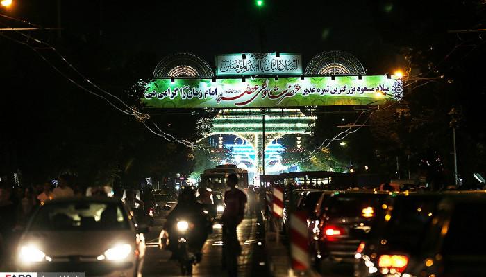 تصاویر شب نیمه شعبان در تهران