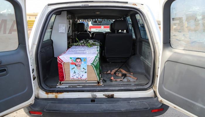 تصاویر آیین تشییع پیکر دو شهید نیروی انتظامی در حادثه تروریستی اهواز