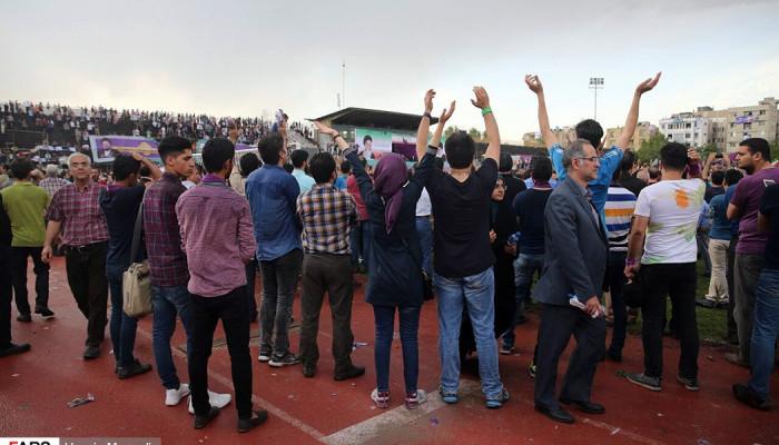 تصاویر همایش حامیان روحانی در مشهد