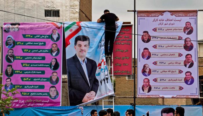 تصاویر آخرین ساعت های تبلیغات انتخابات ریاست جمهوری در سطح کشور