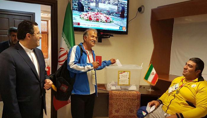 تصاویر انتخابات ریاست جمهوری ایران در باکو پایتخت جمهوری آذربایجان