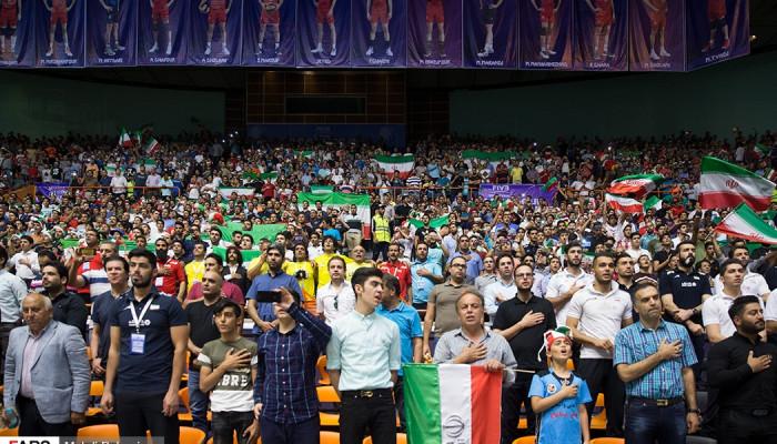 تصاویر دیدار والیبال ایران و صربستان  -  لیگ جهانی والیبال