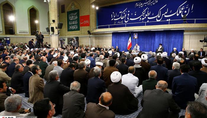 تصاویر دیدار مسئولان نظام با رهبر معظم انقلاب