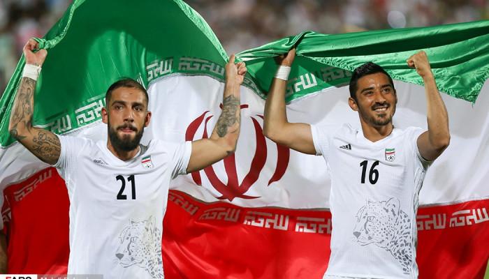 تصاویر صعود تیم ملی فوتبال ایران به جام جهانی ۲۰۱۸