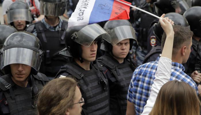 تصاویر تظاهرات ضد دولتی در روسیه