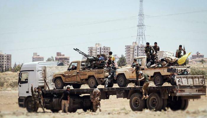 تصاویر استقرار نُجَباء در نوار مرزی عراق و سوریه