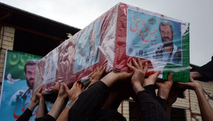 تصاویر مراسم تشییع و تدفین شهید حسن عشوری