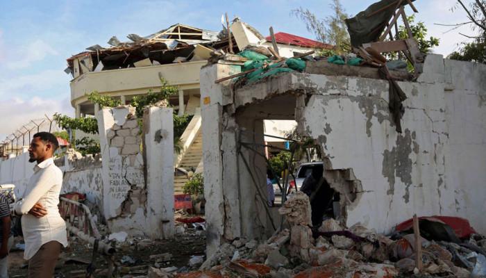 تصاویر حمله مرگبار به رستورانی در سومالی