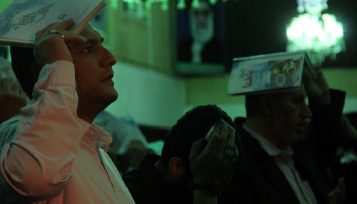 تصاویر مراسم احیای شب بیست و سوم ماه رمضان در دانشگاه علوم پزشکی ارومیه
