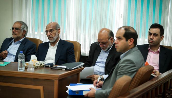 تصاویر اولین جلسه محاکمه همدستان بابک زنجانی در دادگاه انقلاب