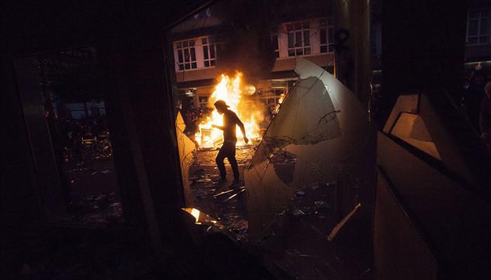 تصاویر دومین شب درگیری ها در هامبورگ