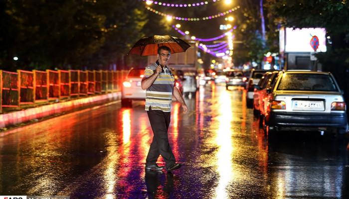 تصاویر باران تابستانی تهران