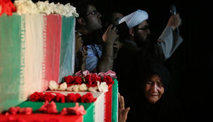 تصاویر مراسم وداع با پیکر شهید بهرام مهرداد
