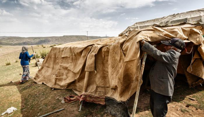 تصاویر زندگی عشایر مغان در دامنه سبلان
