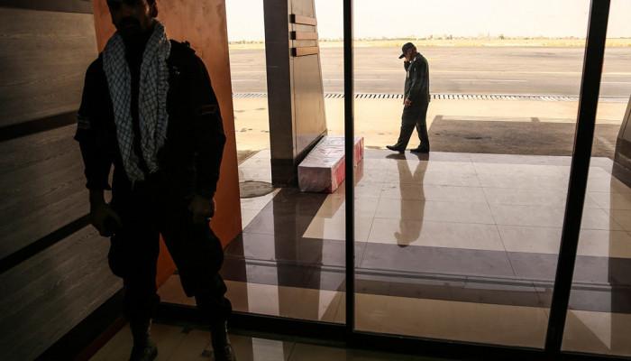 تصاویر ورود پیکر ۱۸ شهید گمنام دفاع مقدس از طریق فرودگاه اهواز