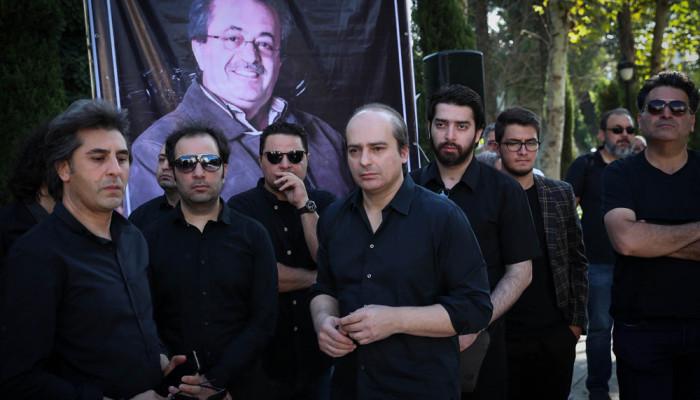 تصاویر مراسم تشییع پیکر مرحوم ناصر فرهودی