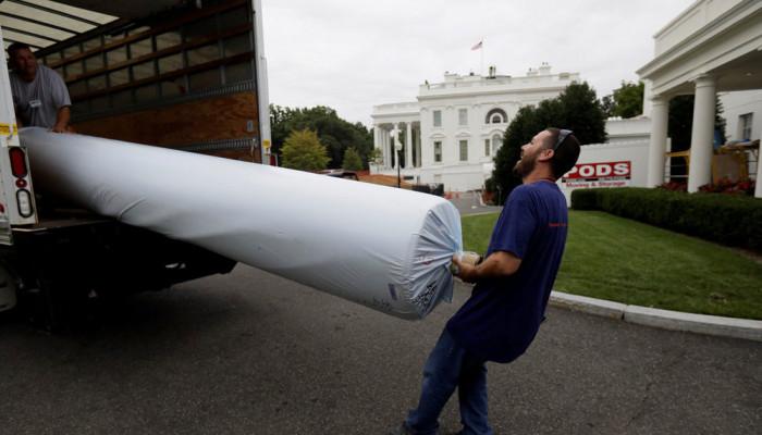تصاویر تعمیرات در کاخ سفید