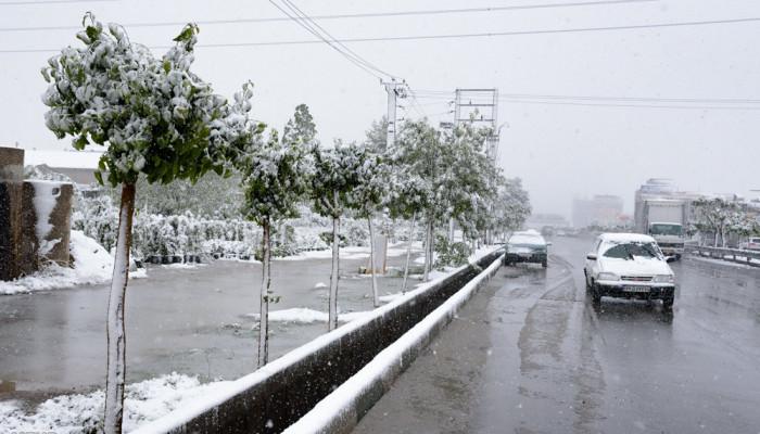 عکسهای بارش برف کرج فروردین ۹۷