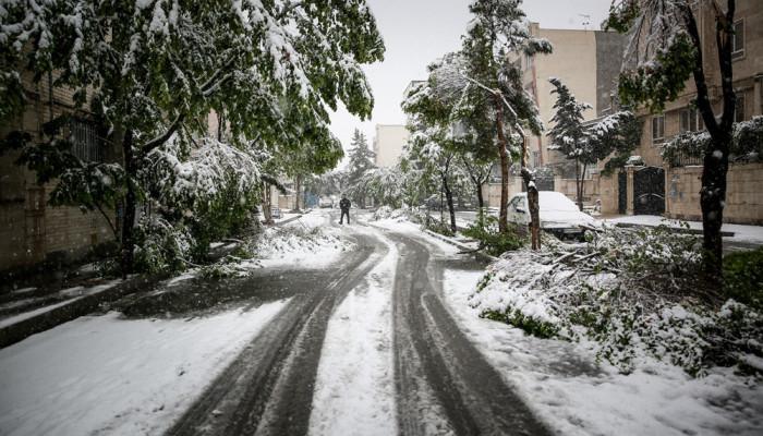 تصاویر زیبا از بارش برف بهاری ۹۷ در کرج (۱)