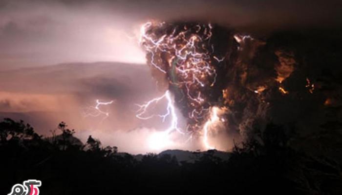 رعد و برق آتشفشانی در شیلی