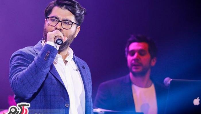 وقتی حامد همایون در اجرای کنسرت زنده زمین می خورد + فیلم
