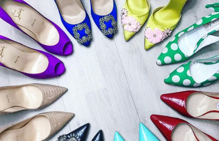 شیک ترین مدل کفش مجلسی پاشنه دار با رنگبندی زیبا و جدید 2018